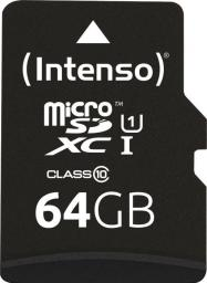 Karta Intenso MicroSDXC 64GB -90MB/s Cl10 UHS-I +AD (3433490)
