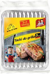 JAN Niezbędny  Tacki do grilla prostokątne małe, 3+1 szt (8571015986)