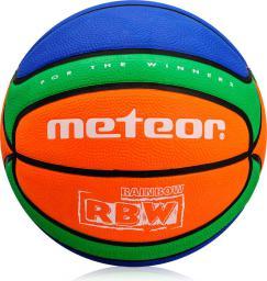 Meteor Piłka Koszowa RBW Cellular #5 pomarańczowo-zielono-niebieska (07035)