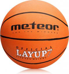 Meteor Piłka do koszykówki LAYUP #7 pomarańczowa (07055)
