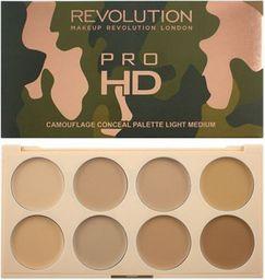Makeup Revolution Pro HD Camouflage Palette Zestaw do konturowania twarzy Light Medium 10g