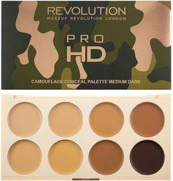 Makeup Revolution Pro HD Camouflage Palette Zestaw do konturowania twarzy Medium Dark 10g