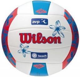 Wilson Piłka Siatkowa AVP Hawaii WTH4825XBRDBL05 niebiesko-biało-czerwona plażowa (11085)