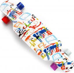 Deskorolka Meteor Plastikowa Longboard Multikolor literki PP 31