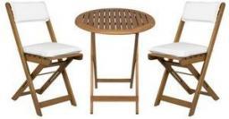 Fieldmann Zestaw ogrodowy stół+2 krzesła+poduszki drewno akacja (FDZN 4003-T)