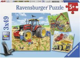 Ravensburger Puzzle 3x49el Ogromne maszyny (080120)