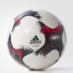 Adidas Piłka Nożna European Qualifiers AO4837 biała/czarno-czerwona (01739)