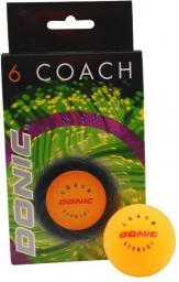 Donic Piłeczki Do Tenisa Stołowego DONIC Coach 6 szt. Pomarańczowa (15156)