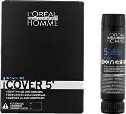 L'Oreal Professionnel Homme Cover 5' Farba 5 - Jasny Brąz 50 ml