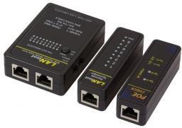 Narzędzia serwisowe LogiLink Tester kabli sieciowych z PoE (WZ0015P)