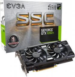 Karta graficzna EVGA GeForce GTX 1050 Ti SSC Gaming ACX 3.0 4GB GDDR5 (128 Bit) DVI-D, HDMI, DP, BOX (04G-P4-6255-KR)