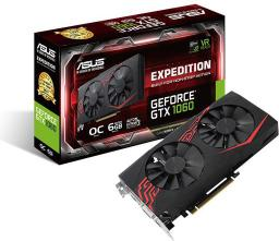 Karta graficzna Asus GeForce GTX 1060 Expedition O6G 6GB GDDR5 (192 Bit) DVI-D, 2xHDMI, 2xDP, BOX (EX-GTX1060-O6G)