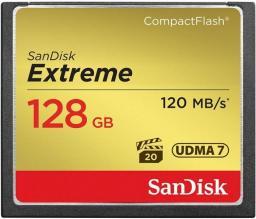 Karta pamięci SanDisk CF CARD 128GB EXTREME - SDCFXSB-128G-G46