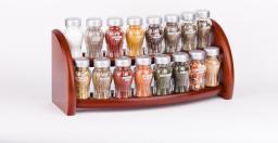 GALD Półka z 16 przyprawami brązowy mat (16S)