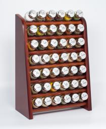 GALD Półka z 42 przyprawami brązowy połysk (42NS)