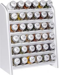 GALD Przyprawnik Silver z 36 przyprawami biały mat (36NS)