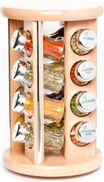 GALD Stojak obrotowy Silver z 16 przyprawami naturalny połysk (16IIS)