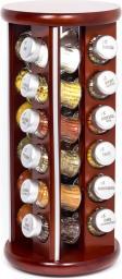 GALD Stojak obrotowy Silver z 24 przyprawami brązowy mat (24S)