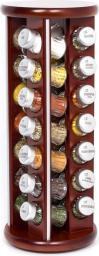 GALD Stojak obrotowy Silver z 28 przyprawami brązowy mat (28S)