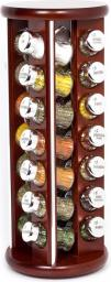 GALD Półka Silver z 28 przyprawami brązowy połysk (28S)