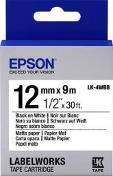 Epson Taśma LK4WBB Czarny/Biały (C53S654023)