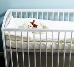 Nanaf Organic Do spania i kąpania. Pościel do Łóżeczka 120x90 cm biała (NA-114120X90)