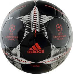 Adidas Piłka Nożna Finale15 Capitano AC0698 czarno-szara czerwone logo (01578)
