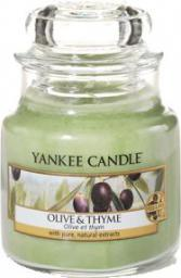 Yankee Candle Classic Small Jar świeca zapachowa Olive & Thyme 104g
