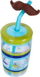 CONTIGO Funny Straw Electric Blue Mustache 440ml (1000-0521)