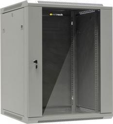 """Szafa NetRack wisząca 19"""", 15U/600x600mm, drzwi szklane, otwierane boki, szary (019-150-66-021)"""