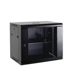 """Szafa NetRack wisząca 19"""", 15U/600x450mm, drzwi szklane, otwierane boki, czarna  (019-150-645-022)"""