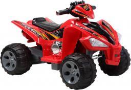 LEANToys Quad na Akumulator Duże Koła Czerwony