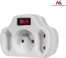 Maclean Gniazdko prądowe potrójne z wyłącznikiem Energy  (MCE142)