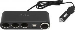 Blow Rozgałęziacz zapalniczki samochodowej, 4x + 2x USB (96-875#)