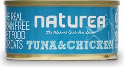 NATUREA Bezzbożowa karma dla kotów i kociąt 80g puszka Kurczak i tuńczyk