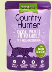 NATURES MENU  	 Country Hunter - 96% indyk z królikiem 85g