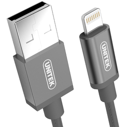 Kabel USB Unitek Mobile Lightning Nylon Gray Y-C499AGY