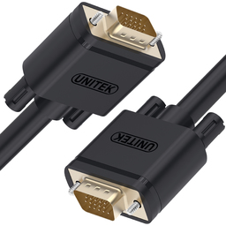 Kabel Unitek D-Sub (VGA) - D-Sub (VGA) 1m czarny (Y-C511G)