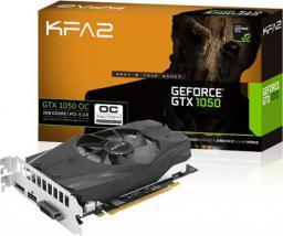 Karta graficzna KFA2 GTX1050 OC, 2GB GDDR5 (128 Bit) DVI, HDMI, DP, bulk (50NPH8DSN8OKB)