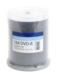 Traxdata Płyta DVD-R 4.7GB,  16X, do nadruku termalnego, 100 sztuk   (907CK100THPRO)