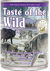 ANIMAL SERVICE Taste of the Wild Sierra Mountain Canine puszka 390g