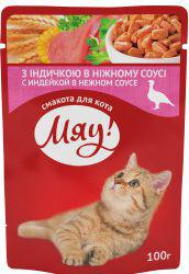 SWISS PET NUTRICTION MIAU sasz. 100g ADULT INDYK SOS