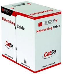 Techly Kabel instalacyjny skrętka,  UTP,  Cat5e, drut, 305m,  szary (305526)