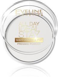 Eveline All Day Ideal Stay Puder prasowany matujący Matt Finish & Fix 1szt