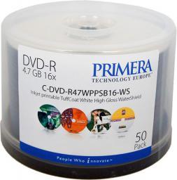 Primera DVD-R 4.7 GB 16x 50 sztuk (C-DMR47WPPWS-50SB)