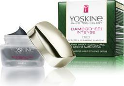 Yoskine Bamboo-Sei Intense czarna maska peelingująca z węglem bambusowym 3w1 50ml