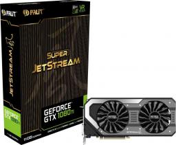 Karta graficzna Palit GeForce GTX 1080 Ti Super JetStream 11GB GDDR5X (352 bit), DVI-D, HDMI, 3xDisplayPort, BOX (NEB108TS15LCJ)