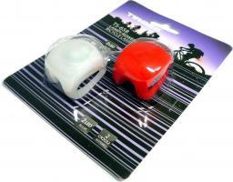 Tiross Lampki rowerowe silikon TS-658 biała i czerwona