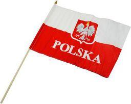Sportech Flaga Polska Z Uchwytem Drewnianym Do Trzymania 30x40 cm (02690)