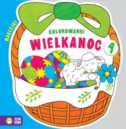 Kolorowanki Wielkanoc. Koszyczek cz.4